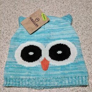 NWT Magellan Outdoors Girl's Owl Critter Beanie